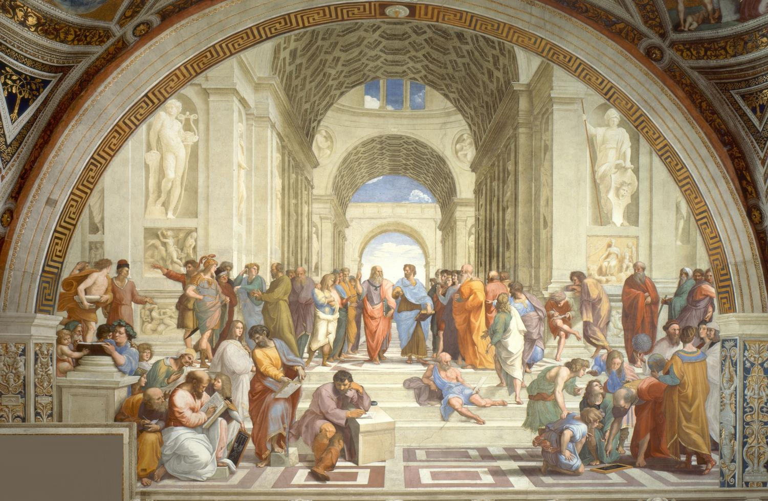 Students taking AP Art History will be analyzing famous pieces of art, such as the above image: Raphael's fresco of the School of Athens.