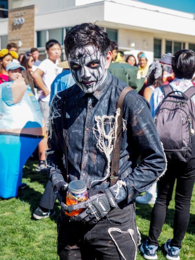 Junior Nicholas Sanchez won scariest costume.