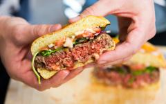According to a press release, the Impossible Burger 2.0's patty is firmer, so the meat can be cooked in many methods while still retaining texture and taste.