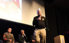 Three veterans from Operation Iraqi Freedom and three veterans from the Vietnam War, also the representatives of Veterans from Foreign Wars (VFW), shared their stories on stage during the entire event. After the presentation was over, these six individuals were invited to the black box for lunch with the Wounded Warrior club members.