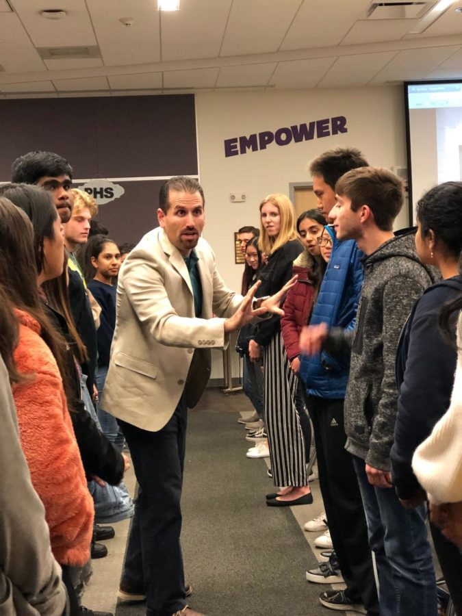 Every+week%2C+students+work+with+Jon+Resendez+to+practice+pitching+and+suggesting+solutions+to+lawmakers.+The+students+met+with+different+IUSD+board+member+to+hear+the+different+needs+of+the+district.++