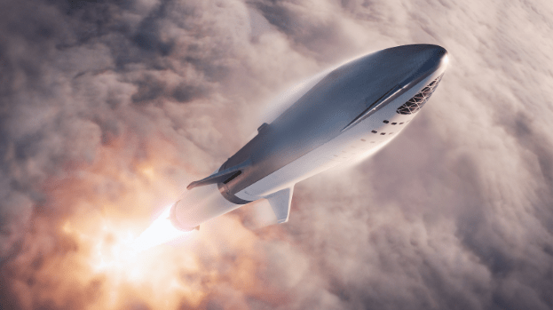 SpaceX%E2%80%99s+Big+Falcon+Rocket+%28BFR%29+is+planned+for+Earth-to-Earth+flights+that+shorten+most+long-distance+flights+around+the+world+to+around+thirty+minutes%2C+according+to+the+SpaceX+website.