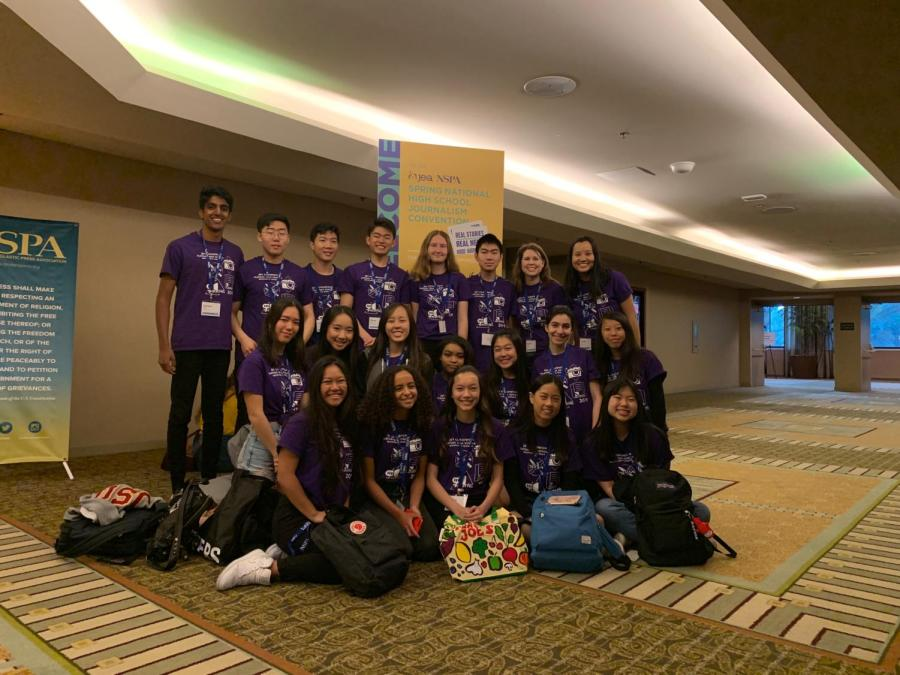 Eighteen+Portola+Pilot+and+Yearbook+students+attended+the+National+Scholastic+Press+Association+convention+in+Anaheim+along+with+advisers+Brianna+Rapp+and+Crystal+Le.