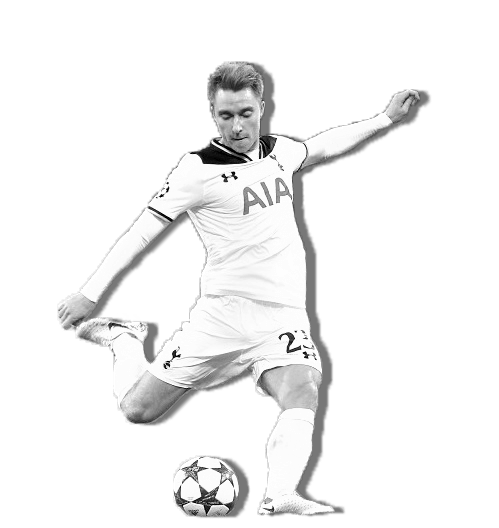 Tottenham offensive midfielder Christian Eriksen has been playing for the Spurs for six years, making a total of 206 appearances and 49 goals.