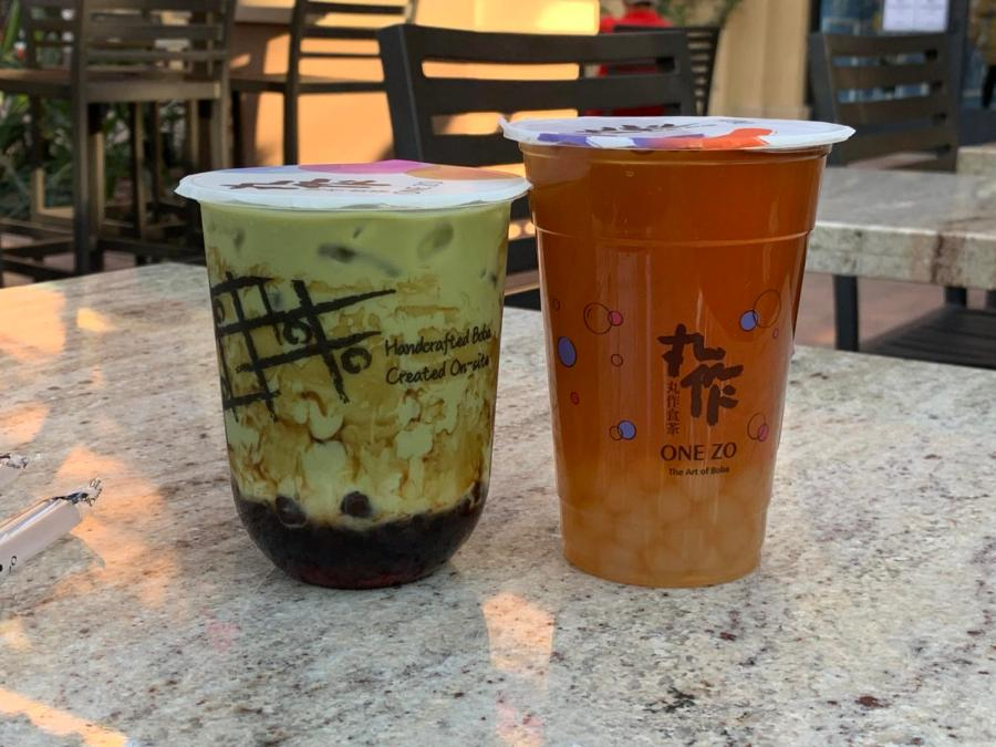 Brown Sugar Matcha Latte  and Wintermelon Light Green Tea have two different types of boba; the matcha latte has the brown sugar boba, while the Wintermelon tea has honey boba. As aesthetic as it looks, these two drinks came with a heavy combined price tag of almost eleven dollars.