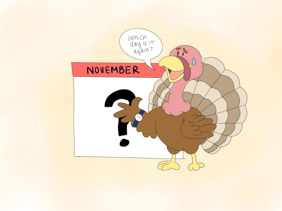 Thanksgiving lands on the fourth Thursday of November, which means that depending on the year, the date of the holiday can differ by up to a week.