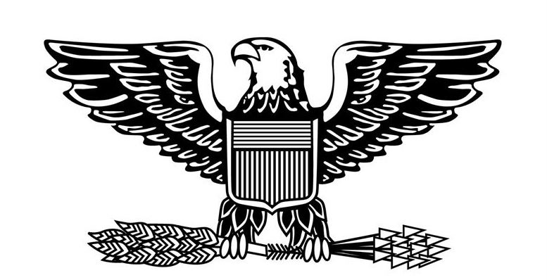 The Air Force rank insignia for the most senior field-grade officer, colonel, is a silver eagle with an olive branch and and arrows in its talon. The eagles head turns toward the olive branch to symbolize the importance of peace before war according to Britannica.
