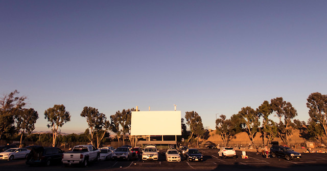 A drive-in movie theater is held in Primm, Nevada in June. Americans have been flocking to drive-ins ever since the pandemic cast doubt on indoor movie theaters.