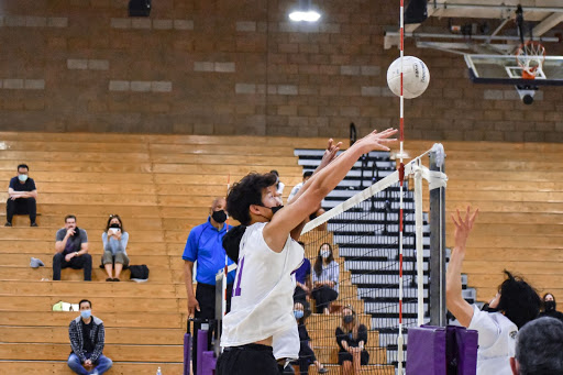 Outside hitter and junior Eugene Jung played all three sets in full duration. Half of the team, including Jung, are multi-sport athletes whose seasons overlap.