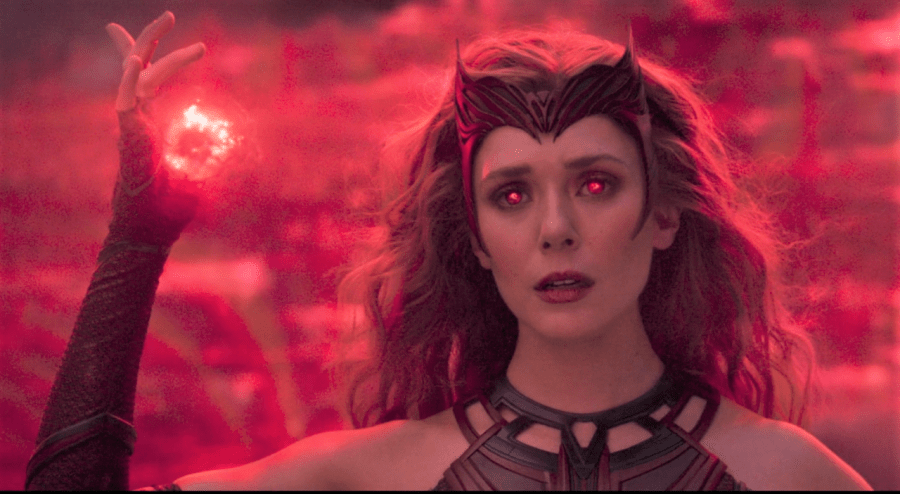 In+the+climax+of+the+fight+scene+in+the+final+episode%2C+fans+watched+as+Wanda+Maximoff+sheds+her+sweatpants+and+track+jacket+for+her+Scarlet+Witch+costume%2C+complete+with+a+headdress+that+pays+homage+to+the+original+character+design+from+the+comics.+