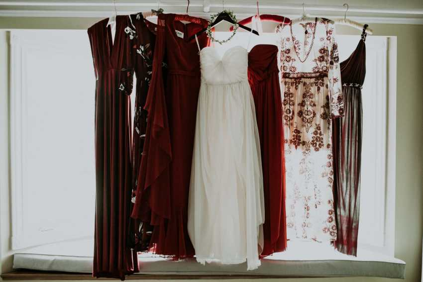 bohemian red bridesmaid dresses