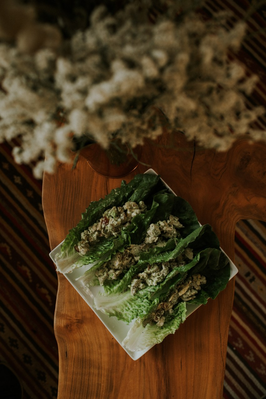paelo chicken salad avocado seattle food photographer
