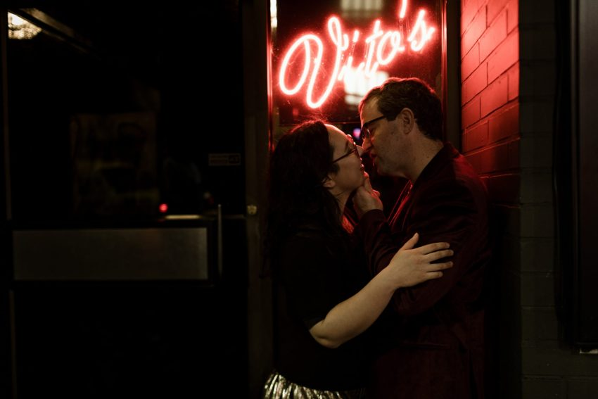 kissing outside vito's seattle date