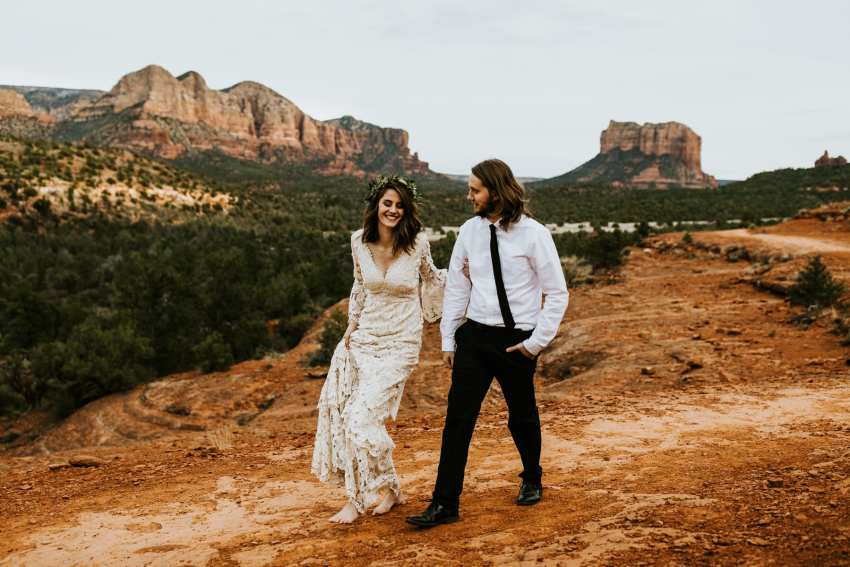 bohemian sedona cathedral rock elopement