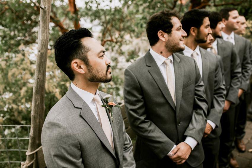 orcas island wedding groom