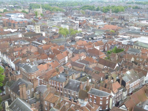 A view of York from above