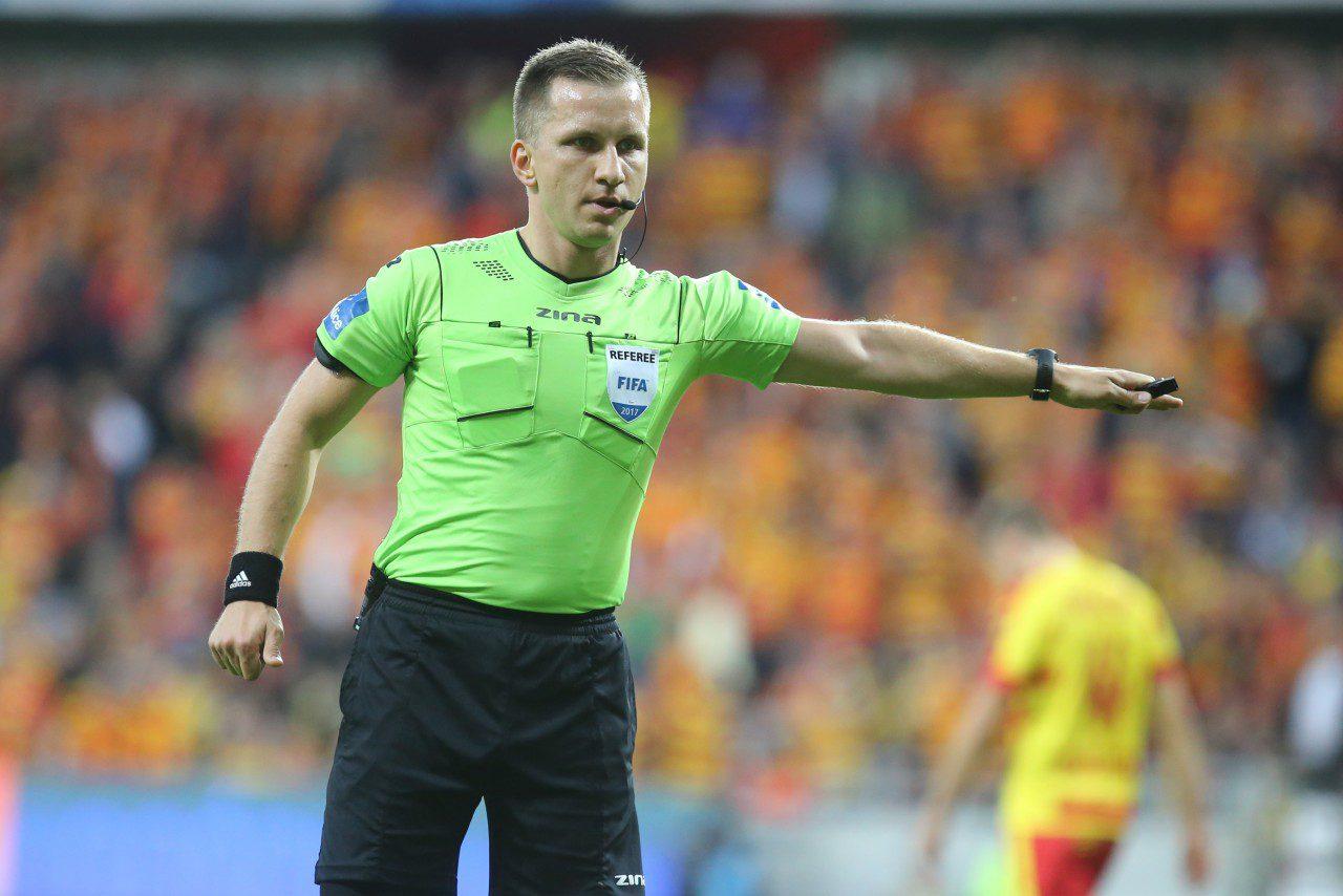 Bartosz Frankowski arbitrem meczu zLechem Poznań