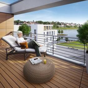 Blick vom Penthouse (Port 13) auf den PHOENIX See | Visualisierung: Interboden Innovative Lebenswelten GmbH & Co. KG