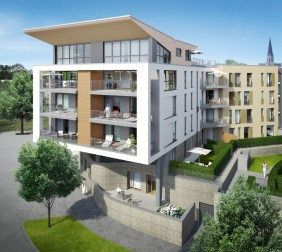 Kopfbau Port 13 | Visualisierung: Interboden Innovative Lebenswelten GmbH & Co. KG