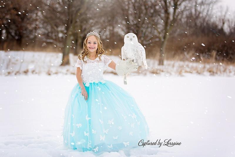 Snow princess photoshoot illinois