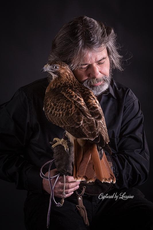 Falconer redtailed hawk (10)