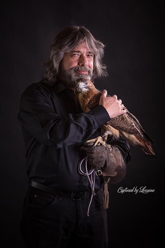 Falconer redtailed hawk (4)