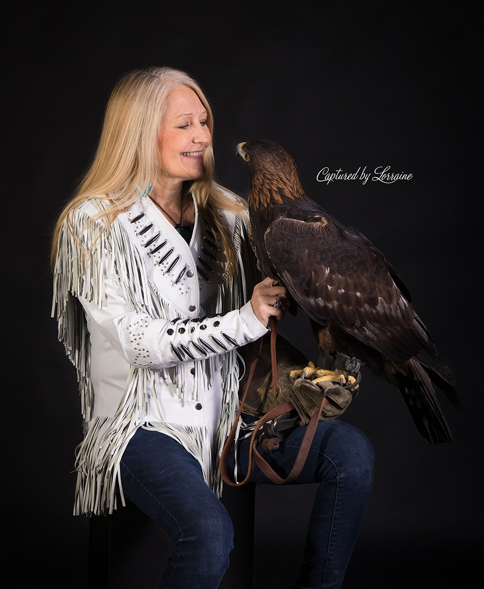 Falconer with Golden Eagle Portraits (2)