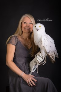 Falconer with Snowy Owl