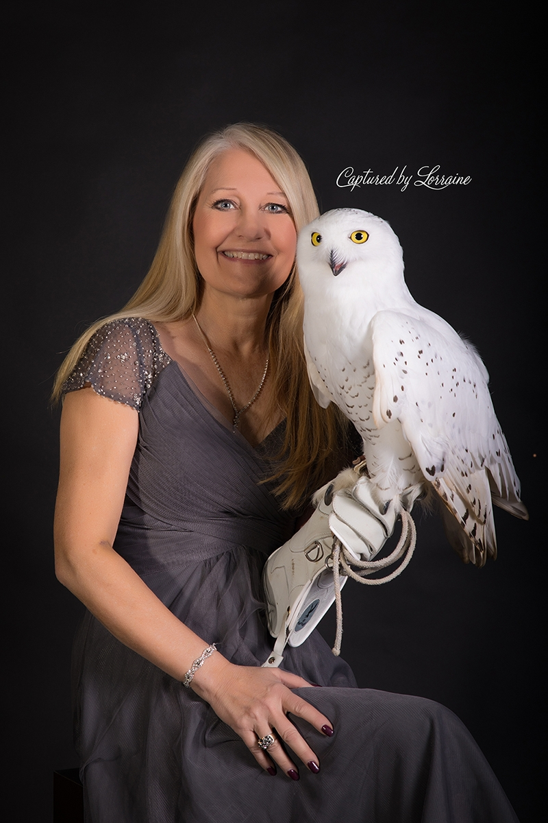 Falconer with Snowy Owl (2)