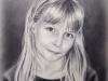 Kinderportrait, Trockenpinsel Technik auf hochwertige Aquarellpapier