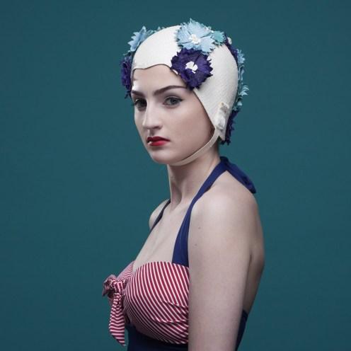 Jane Fryers millinery swim caps
