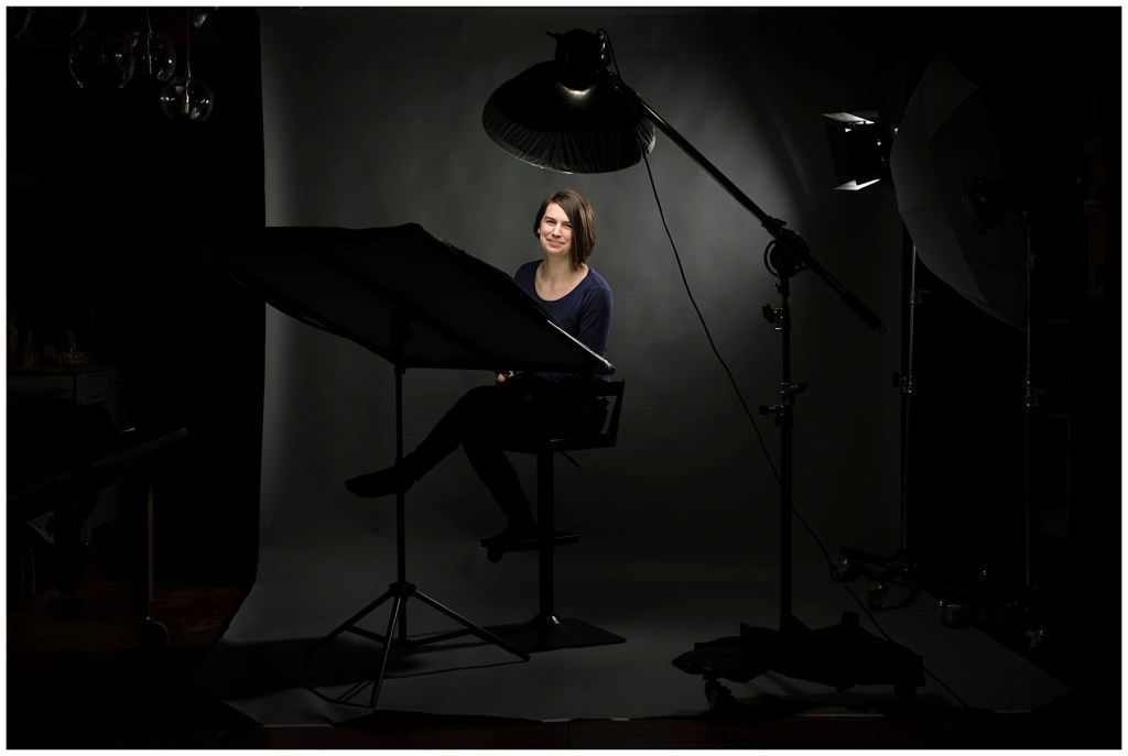 photo of headshot studio setup