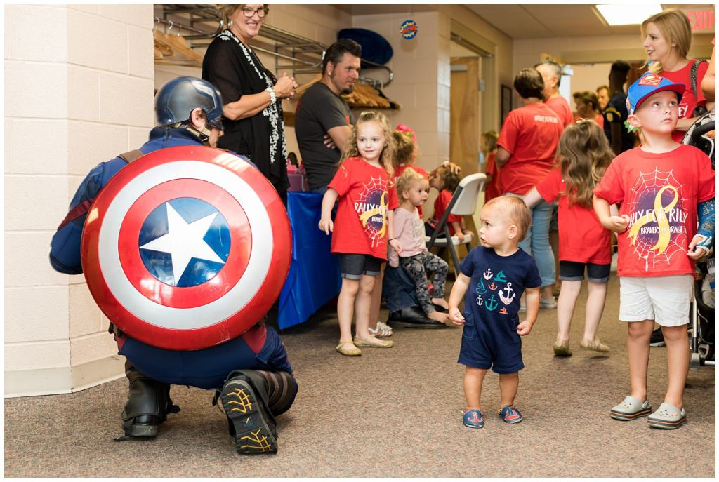 superhero at child's party