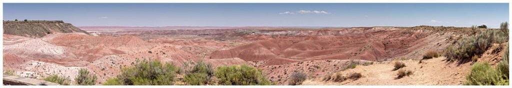 panoramic photo of the painted desert