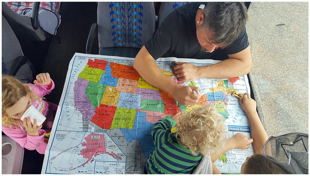 road trip map for family road trip
