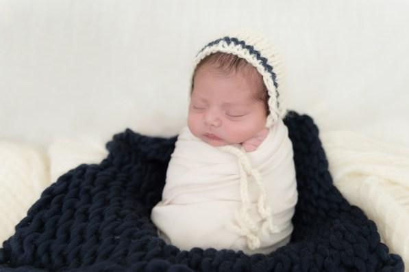 baby boy potatoe sack in bonnet