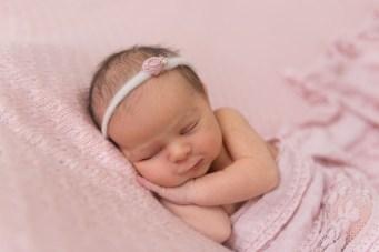 baby girl side smile