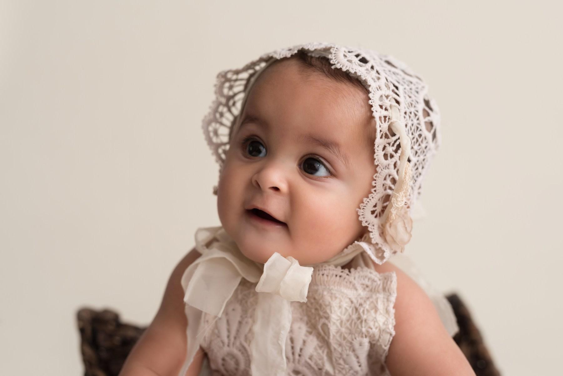 baby girl vintage bonnet