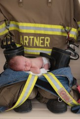 baby on dad fireboots