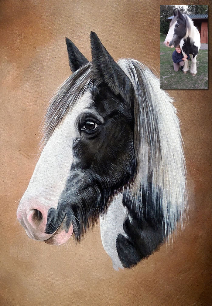 acrylic on canvas horse portrait
