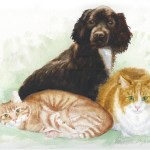 """The Washburn Trio"", pastel, a Mothers' Day gift, 1998."