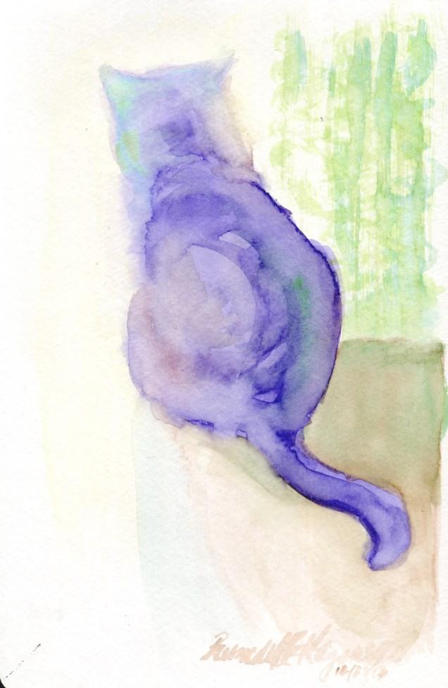"""""""Blending"""", watercolor, 6″ x 9″ © Bernadette E. Kazmarski"""