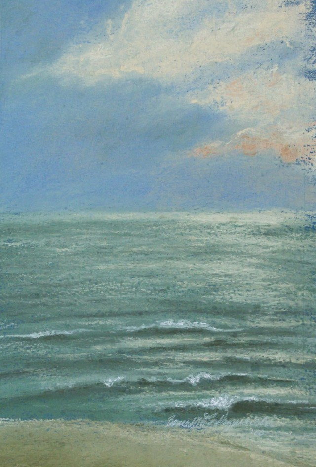 Burnished Waves, pastel, 10 x 18, 1998 © Bernadette E. Kazmarski