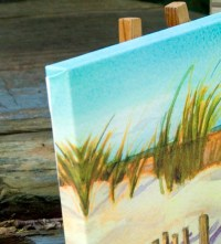 BEACH-EveningOnBeach-8x10Canvas-side