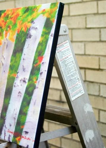 Birches 1, detail of edge.