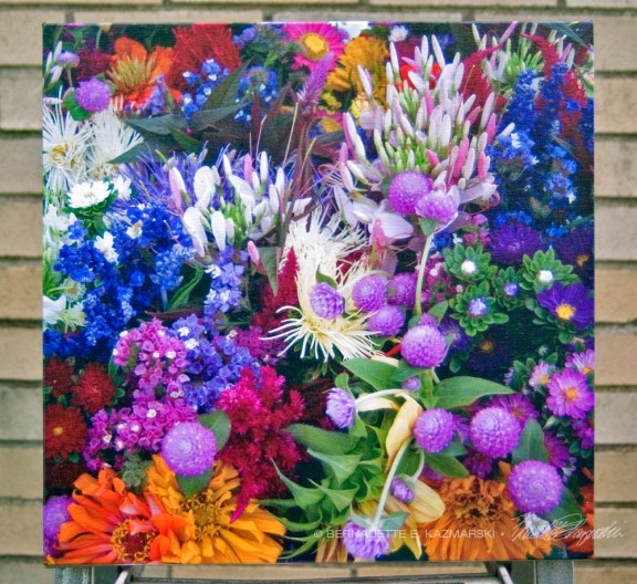 """Market Flowers"" canvas"