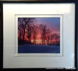 "Framed of ""I Chased a Sunset""."