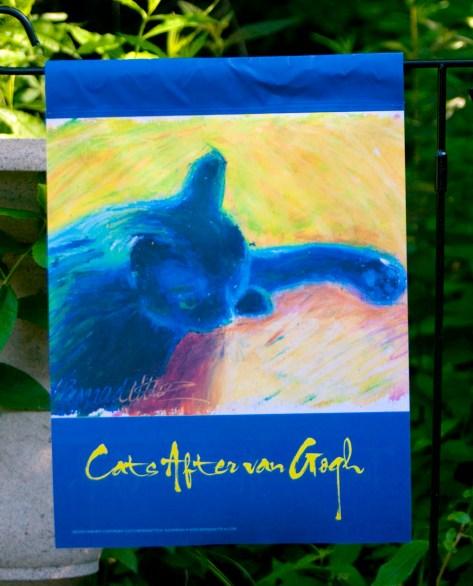 Back Garden Flag, Cats After Van Gogh