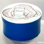 Love Cats Blue Round Keepsake Box