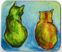 Two Cats After van Gogh mousepad